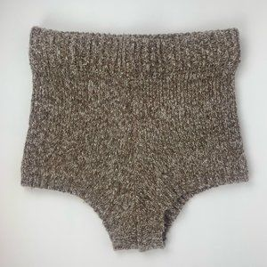 Forever 21 Marled Knit High Waist Taupe Shorts
